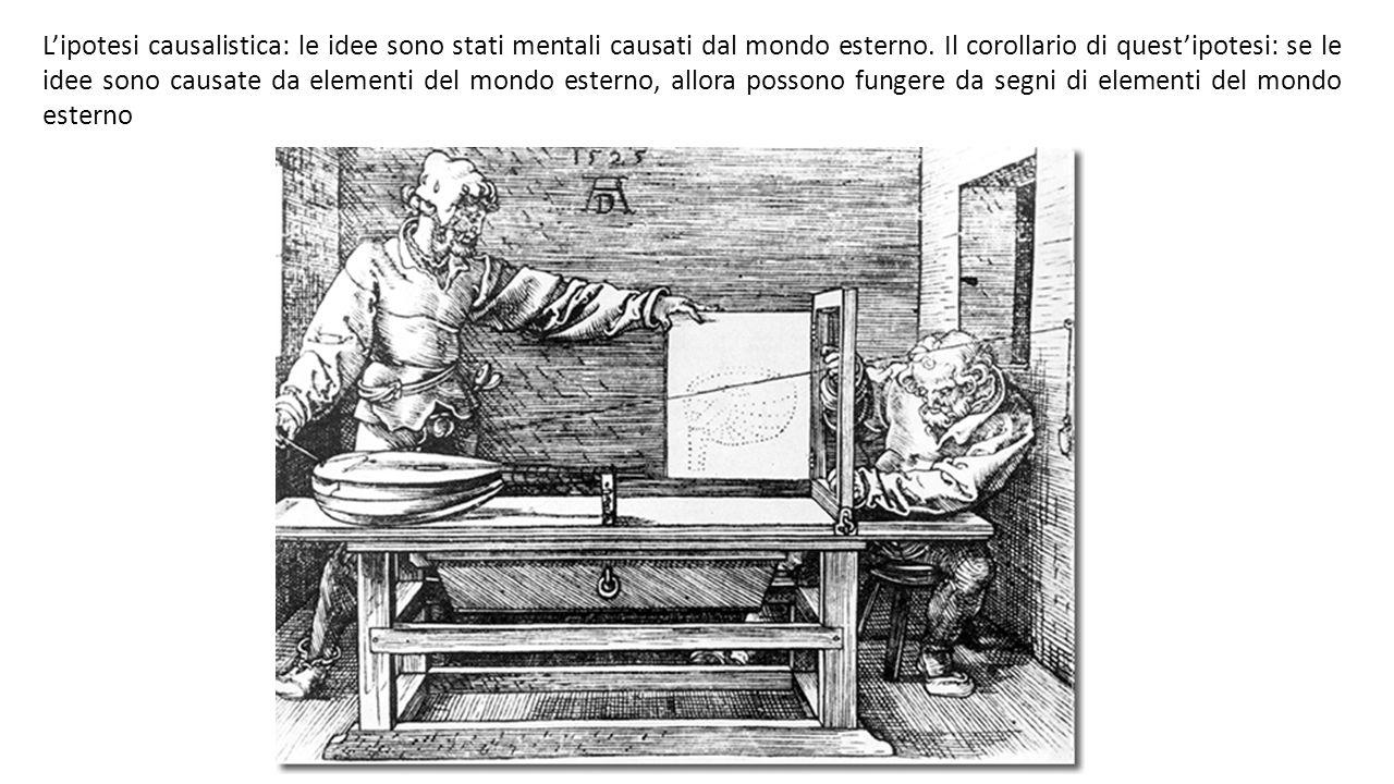 L'ipotesi causalistica: le idee sono stati mentali causati dal mondo esterno.
