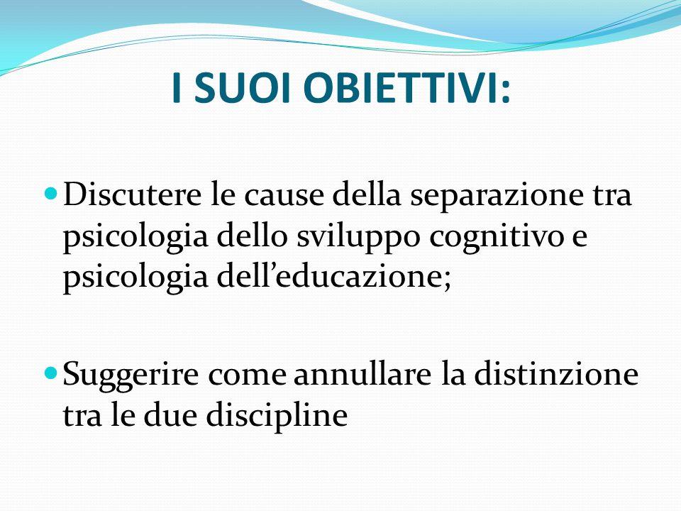 Sapreste definire correttamente la psicologia dello sviluppo cognitivo e la psicologia dell'educazione?