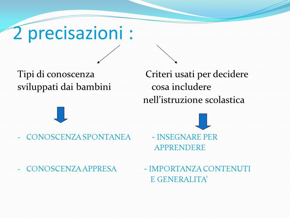 1) Differenza negli oggetti d'indagine Psicologia dello sviluppo cognitivo Psicologia dell'educazione