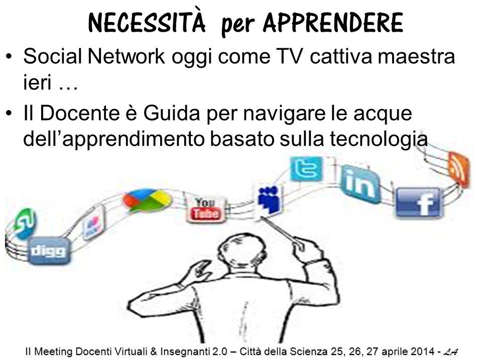 Social Network oggi come TV cattiva maestra ieri … Il Docente è Guida per navigare le acque dell'apprendimento basato sulla tecnologia NECESSITÀ per APPRENDERE