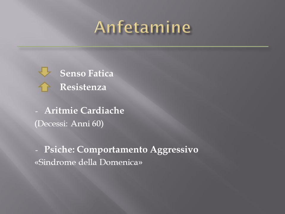 Senso Fatica Resistenza - Aritmie Cardiache (Decessi: Anni 60) - Psiche: Comportamento Aggressivo «Sindrome della Domenica»