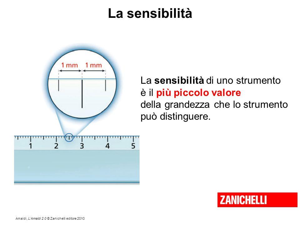 Amaldi, L'Amaldi 2.0 © Zanichelli editore 2010 La sensibilità La sensibilità di uno strumento è il più piccolo valore della grandezza che lo strumento