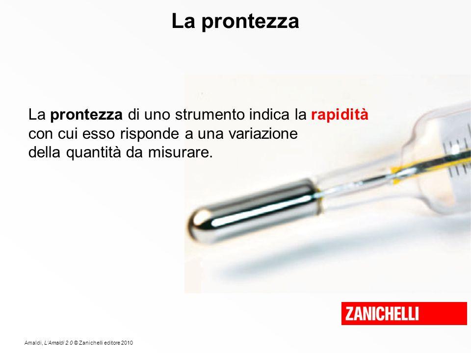 Amaldi, L'Amaldi 2.0 © Zanichelli editore 2010 La prontezza La prontezza di uno strumento indica la rapidità con cui esso risponde a una variazione de