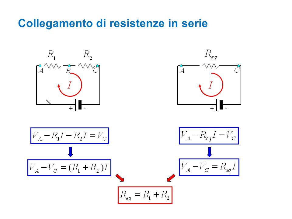 +- +- Collegamento di resistenze in serie