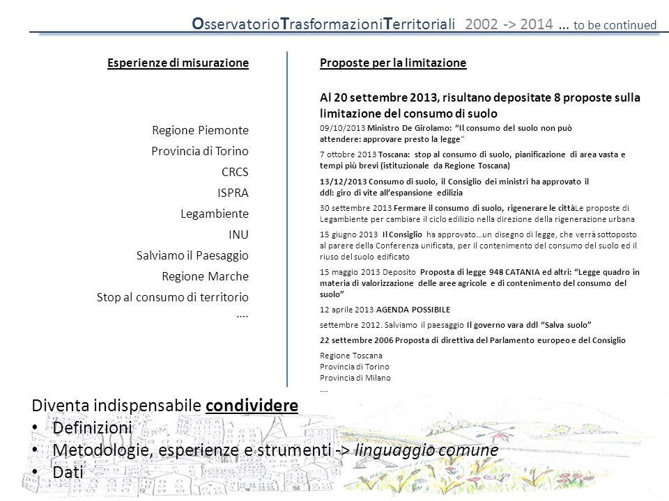 """09/10/2013 Ministro De Girolamo: """"Il consumo del suolo non può attendere: approvare presto la legge"""" 7 ottobre 2013 Toscana: stop al consumo di suolo,"""