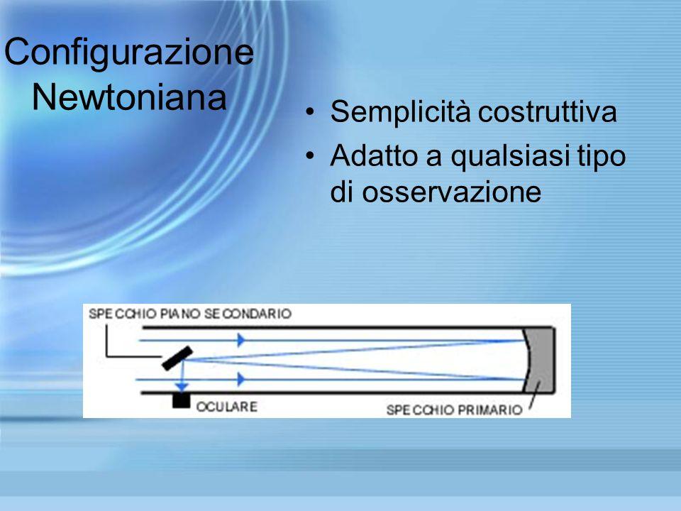 Configurazione di Cassegrain Struttura a due specchi parabolizzati Variante: conf. Nasmyth