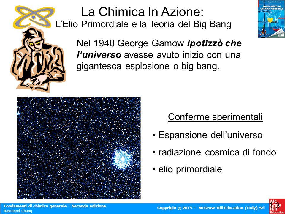 Fondamenti di chimica generale – Seconda edizione Raymond Chang Copyright © 2015 – McGraw-Hill Education (Italy) Srl Notazione Scientifica 1.8 Moltiplicazione 1.Moltiplica N 1 per N 2 2.Addiziona tra loro gli esponenti n 1 e n 2 (4.0 x 10 -5 ) x (7.0 x 10 3 ) = (4.0 x 7.0) x (10 -5+3 ) = 28 x 10 -2 = 2.8 x 10 -1 Divisione 1.Dividi N 1 per N 2 2.Sottrai tra loro gli esponenti n 1 e n 2 8.5 x 10 4 ÷ 5.0 x 10 9 = (8.5 ÷ 5.0) x 10 4-9 = 1.7 x 10 -5