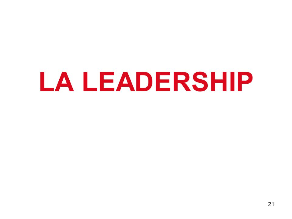 21 LA LEADERSHIP