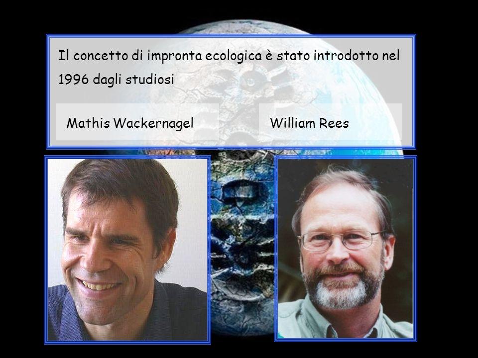 Il concetto di impronta ecologica è stato introdotto nel 1996 dagli studiosi Mathis WackernagelWilliam Rees