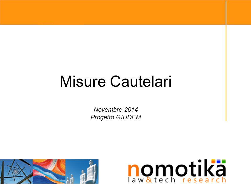 Misure Cautelari Novembre 2014 Progetto GIUDEM