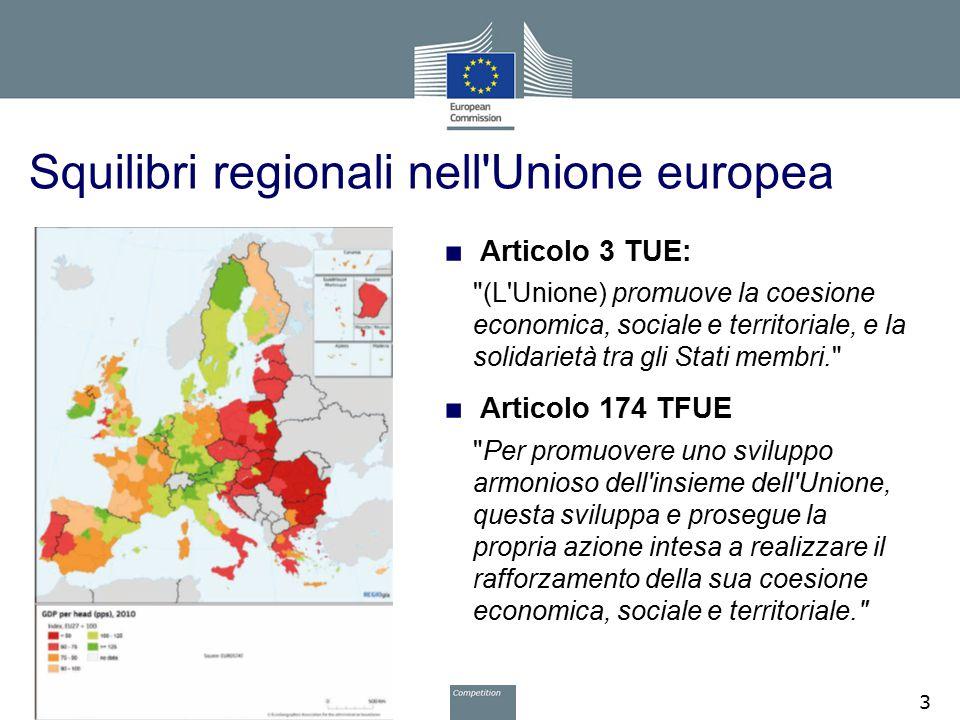 Squilibri regionali nell'Unione europea ■ Articolo 3 TUE: