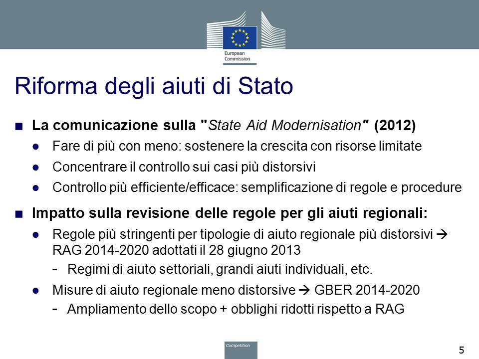 Riforma degli aiuti di Stato ■ La comunicazione sulla