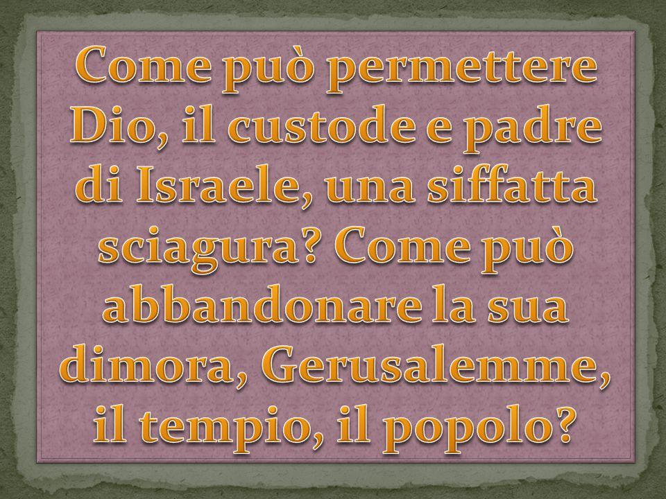 In realtà, scrive l'autore sacro, è stato Israele a voltare le spalle al suo Dio.