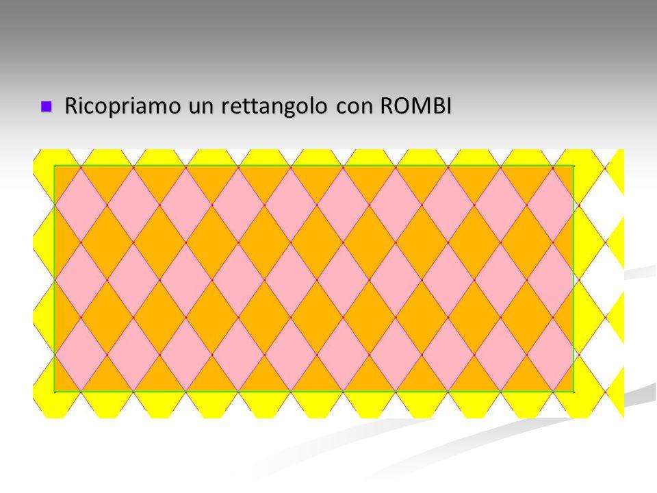 Ricopriamo un rettangolo con ROMBI Ricopriamo un rettangolo con ROMBI