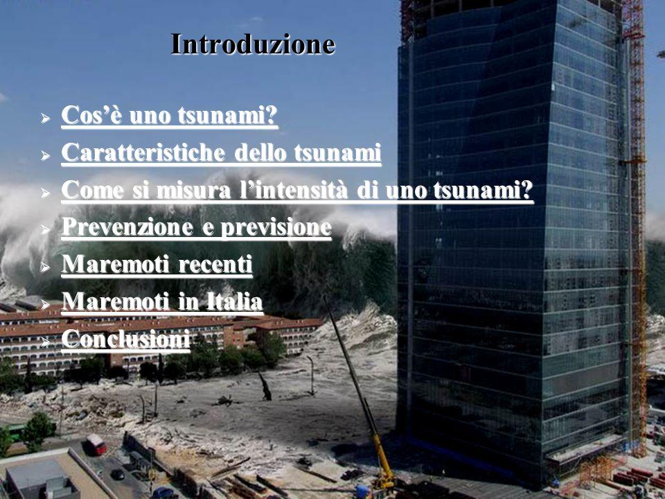 Introduzione  Cos'è uno tsunami? Cos'è uno tsunami? Cos'è uno tsunami?  Caratteristiche dello tsunami Caratteristiche dello tsunami Caratteristiche