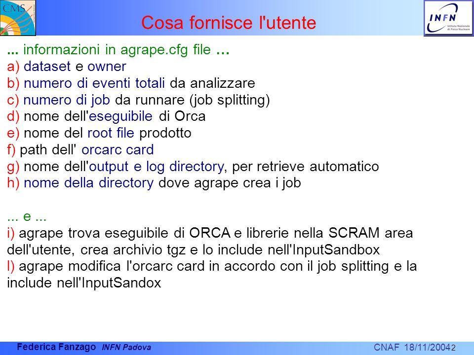 CNAF 18/11/2004 Federica Fanzago INFN Padova 2...