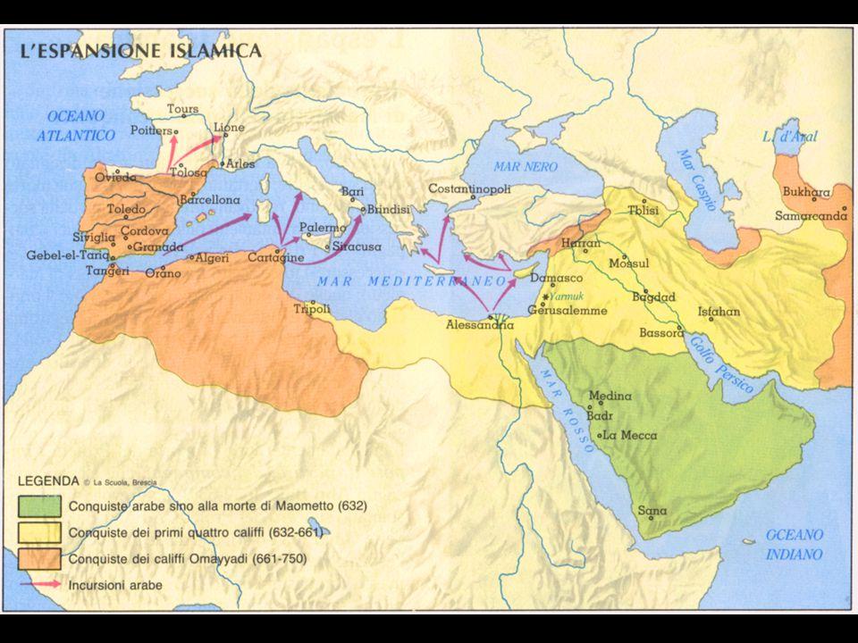 Abu Bakr e Omar Inizialmente prevale il partito dei compagni :  Dopo il breve califfato di Abu Bakr (632-634), durante il quale fu consolidata l'islamizzazione dell'Arabia,  Venne eletto Omar (634-644) sotto il quale venne messo per iscritto il Corano e si realizzarono grandi conquiste a danno degli imperi bizantino e persiano.