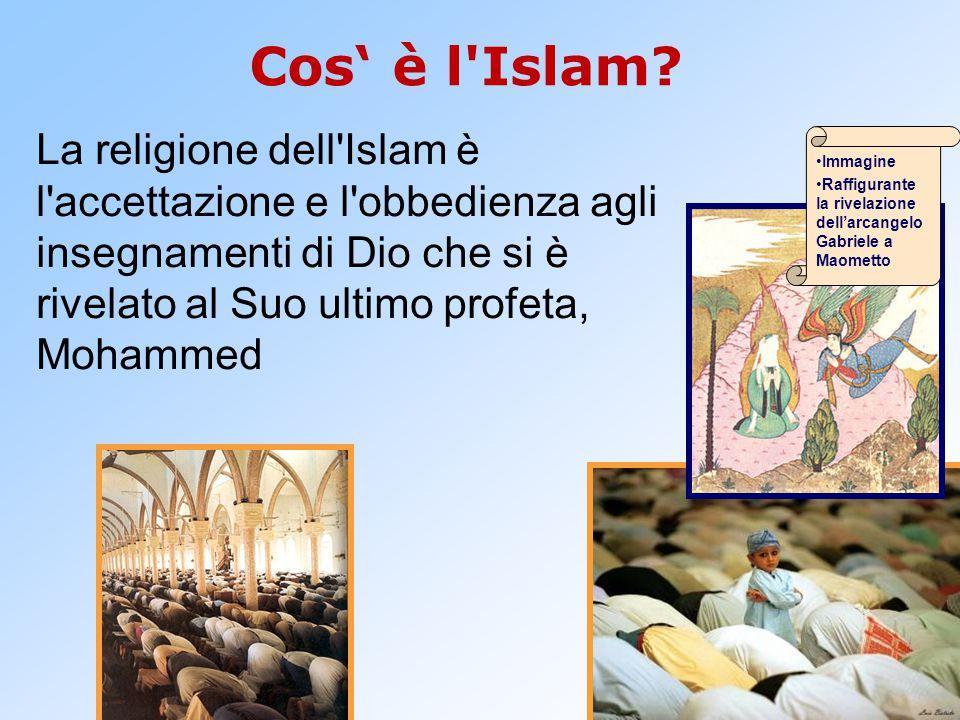 La religione dell'Islam è l'accettazione e l'obbedienza agli insegnamenti di Dio che si è rivelato al Suo ultimo profeta, Mohammed Cos' è l'Islam? Imm