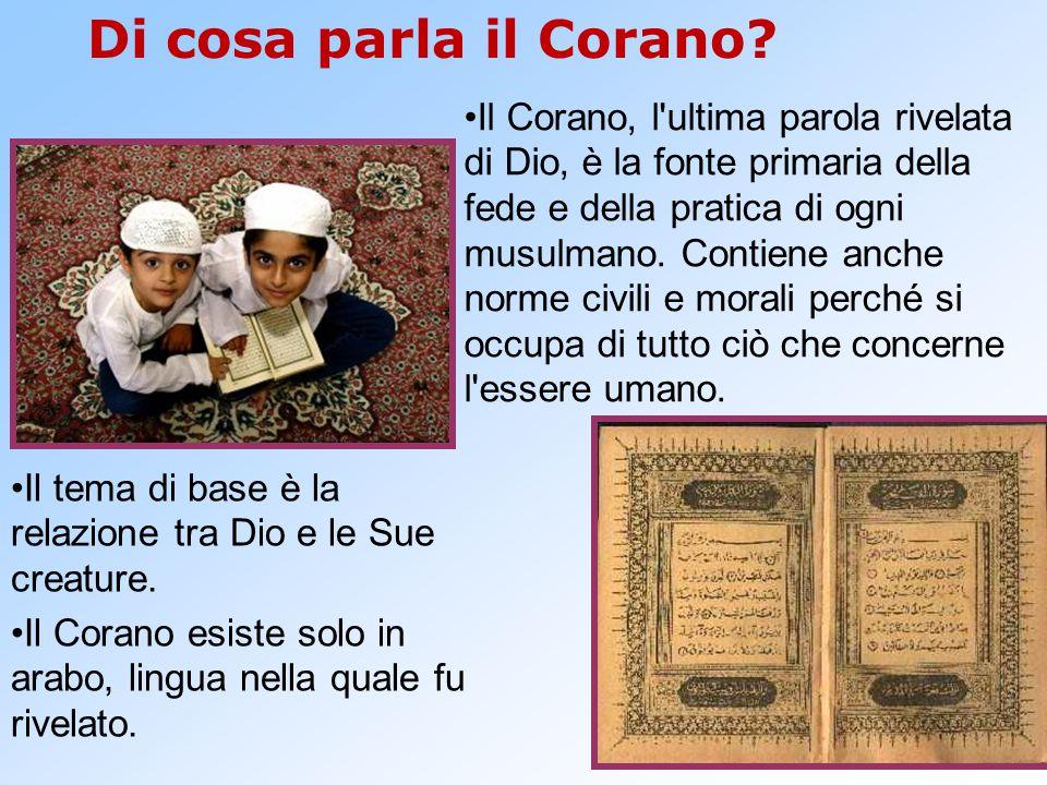 Di cosa parla il Corano? Il Corano, l'ultima parola rivelata di Dio, è la fonte primaria della fede e della pratica di ogni musulmano. Contiene anche