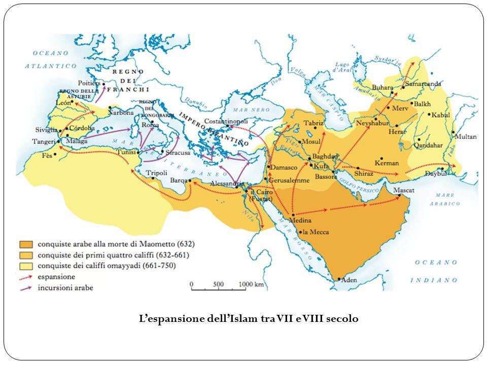 L'espansione dell'Islam tra VII e VIII secolo