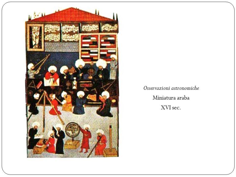 Osservazioni astronomiche Miniatura araba XVI sec.