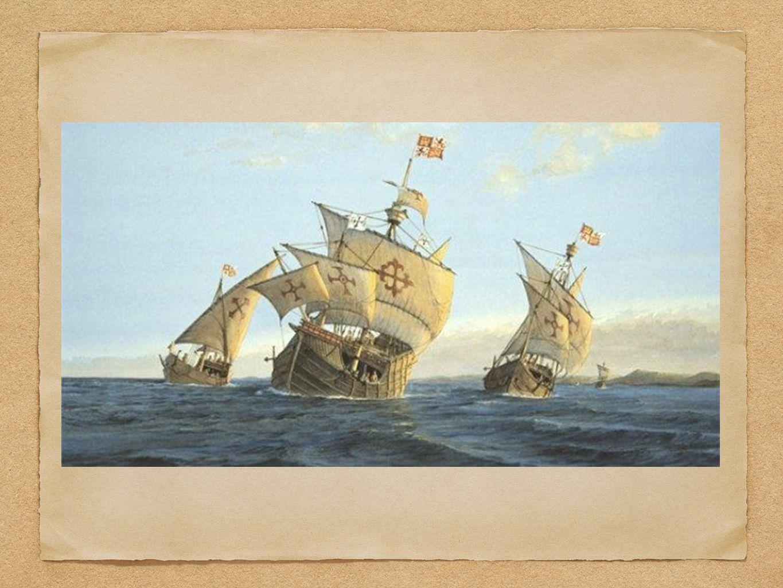 LE SCOPERTE DI COLOMBO 12 ottobre 1492: Colombo sbarcò sull'isola di Guanahani (San Salvador).