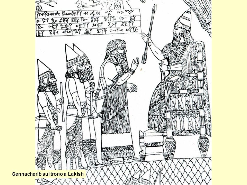 Sennacherib sul trono a Lakish