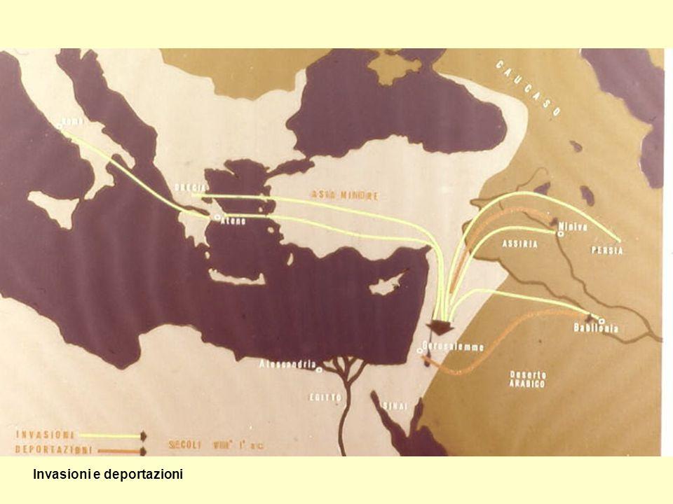 Deportati ebrei, sorvegliati da un guerriero assiro