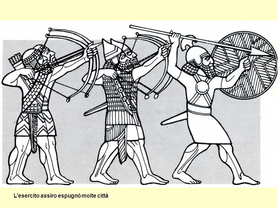 L'esercito assiro espugnò molte città