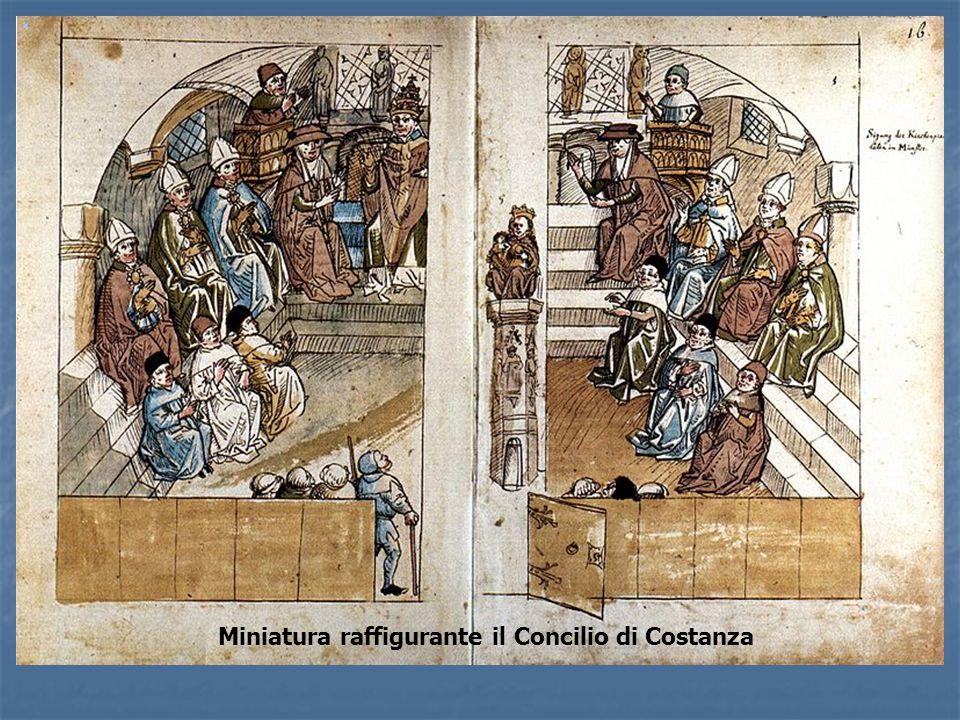 Miniatura raffigurante il Concilio di Costanza