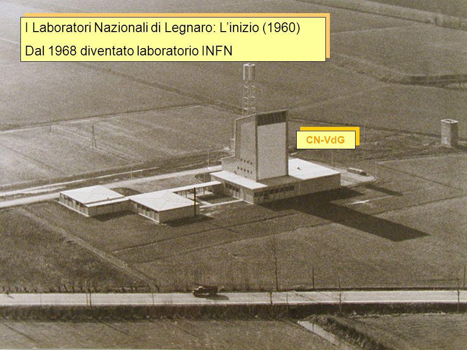 I Laboratori Nazionali di Legnaro: anni '70 CN-VdG