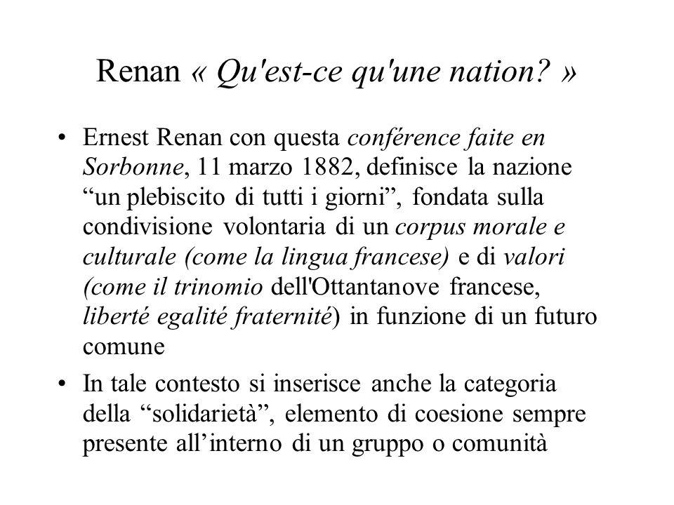 Renan « Qu est-ce qu une nation.