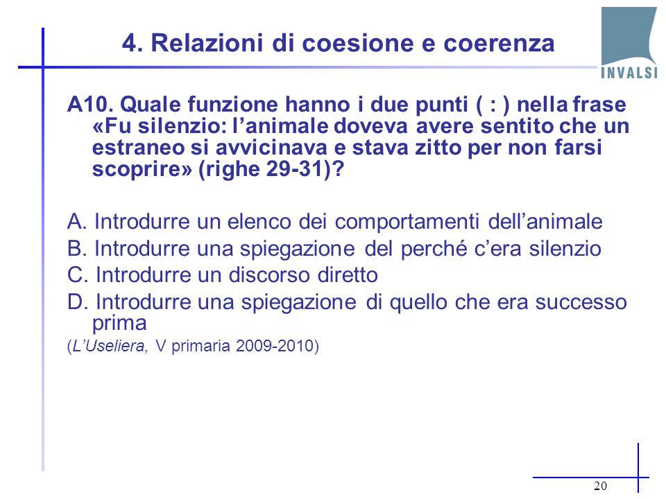 19 3.Inferenza diretta A4. Dove viveva la protagonista prima di andare a Mantova.