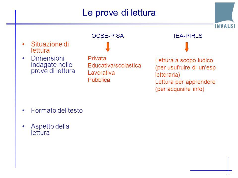 Risultati in Lettura: Paesi OCSE