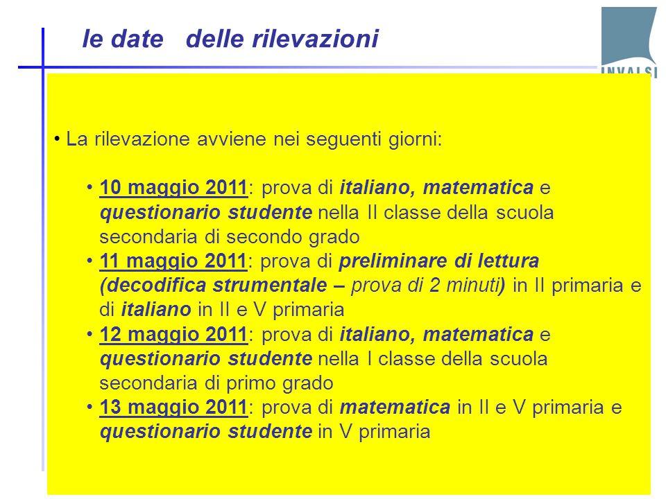 Lo svolgimento delle prove In alcune scuole campione (individuate dall'INVALSI) la somministrazione ( SNV) avviene alla presenza di un osservatore est