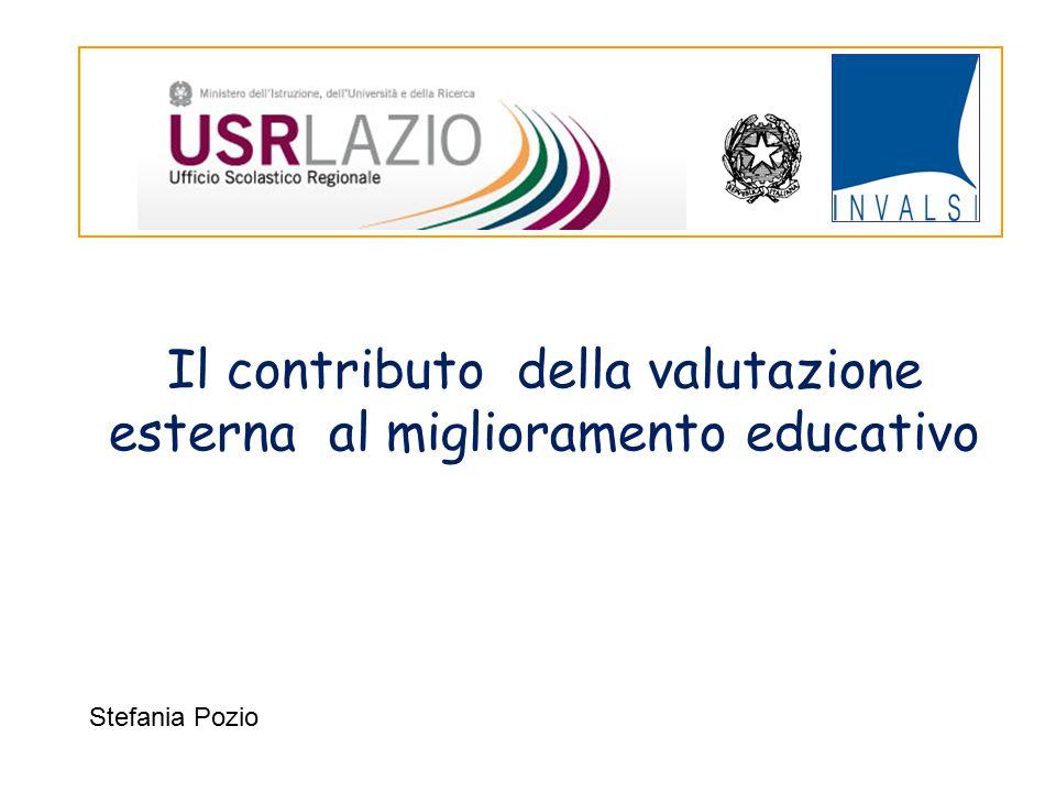 Il contributo della valutazione esterna al miglioramento educativo Stefania Pozio