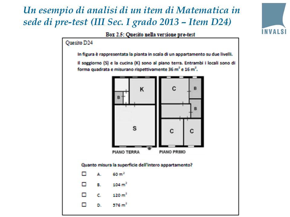 Un esempio di analisi di un item di Matematica in sede di pre-test (III Sec.
