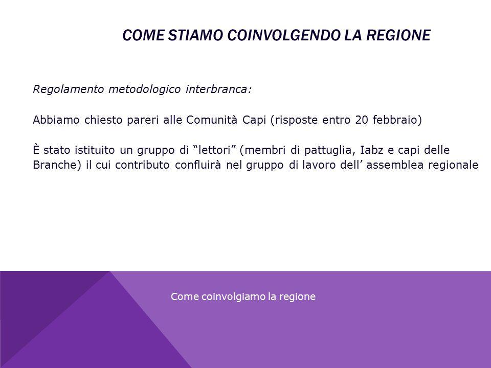 """Regolamento metodologico interbranca: Abbiamo chiesto pareri alle Comunità Capi (risposte entro 20 febbraio) È stato istituito un gruppo di """"lettori"""""""