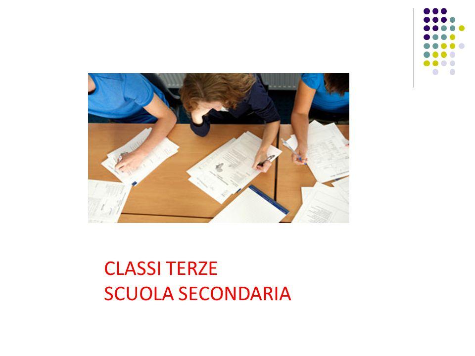 CLASSI TERZE SCUOLA SECONDARIA