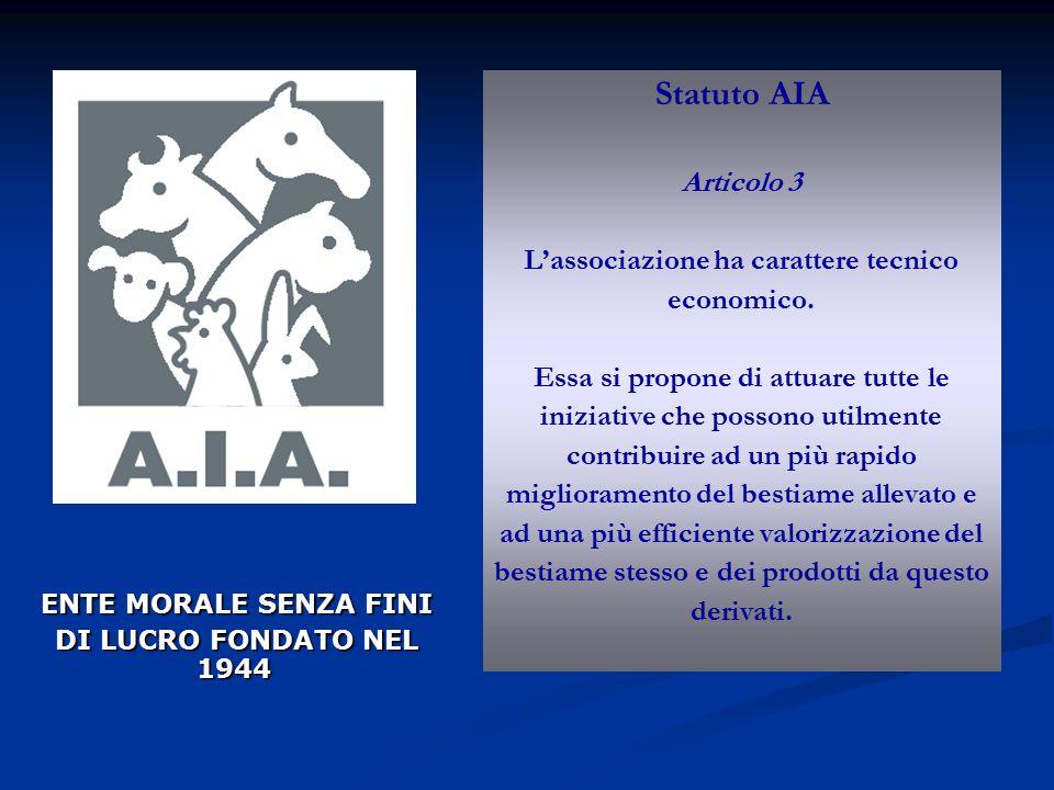 Statuto AIA Articolo 3 L'associazione ha carattere tecnico economico.