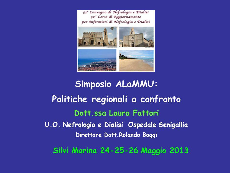 Simposio ALaMMU: Politiche regionali a confronto Dott.ssa Laura Fattori U.O.
