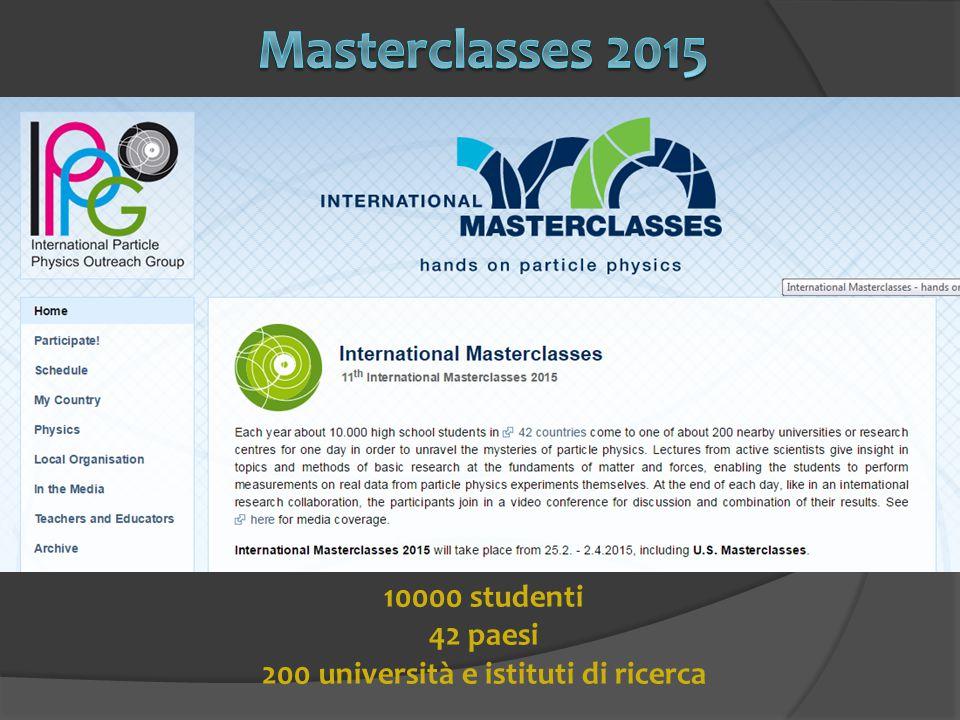 10000 studenti 42 paesi 200 università e istituti di ricerca
