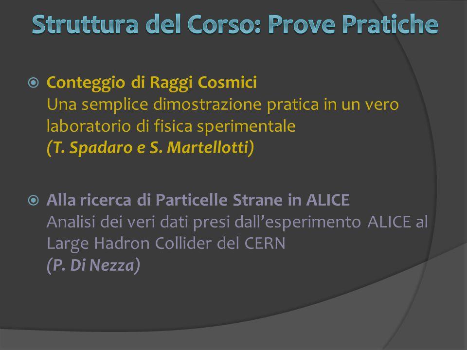  Conteggio di Raggi Cosmici Una semplice dimostrazione pratica in un vero laboratorio di fisica sperimentale (T. Spadaro e S. Martellotti)  Alla ric