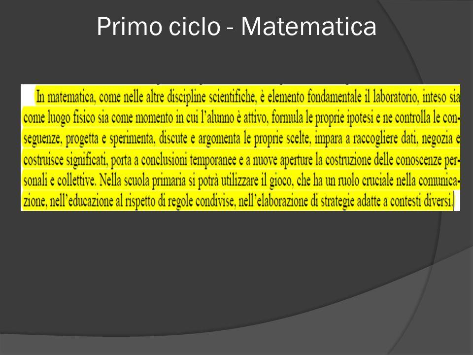 Primo ciclo - Matematica