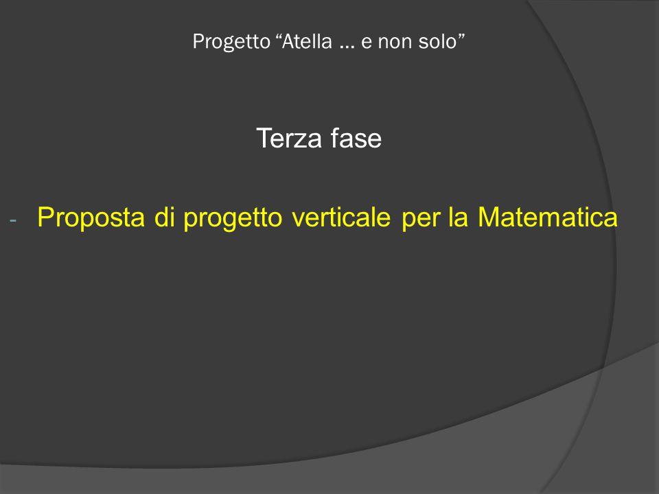 Progetto Atella … e non solo Terza fase - Proposta di progetto verticale per la Matematica