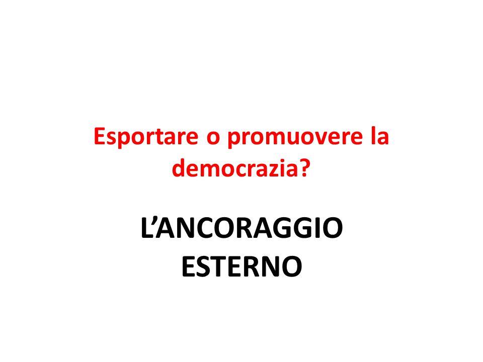 Esportare o promuovere la democrazia L'ANCORAGGIO ESTERNO