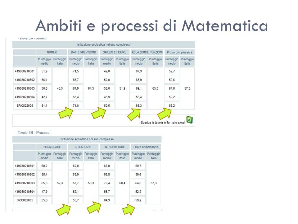 Ambiti e processi di Matematica