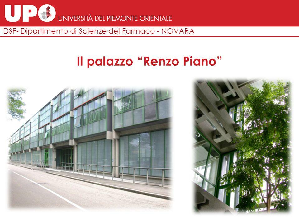 """DSF- Dipartimento di Scienze del Farmaco - NOVARA Il palazzo """"Renzo Piano"""""""