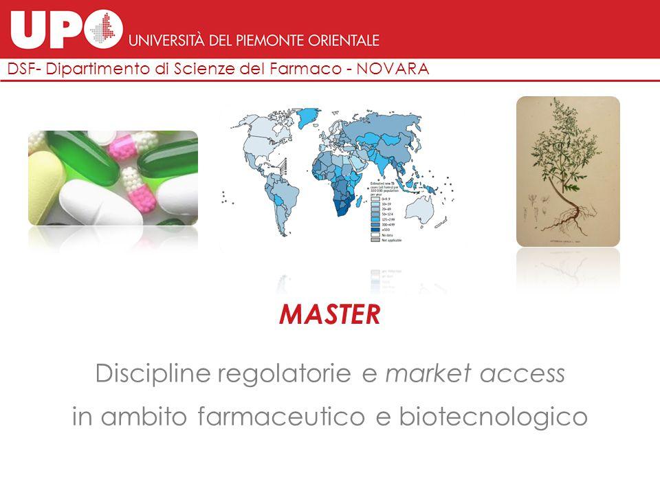 DSF- Dipartimento di Scienze del Farmaco - NOVARA MASTER Discipline regolatorie e market access in ambito farmaceutico e biotecnologico