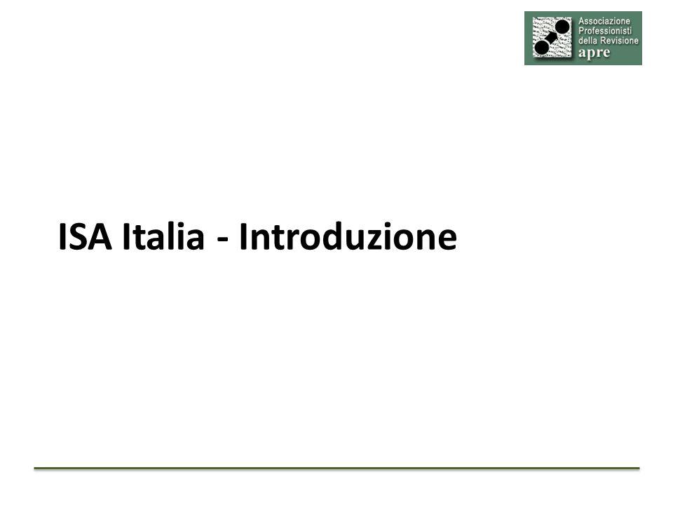 Un pò di storia FonteDisposizione CNDCECNel 2010 elabora una traduzione degli ISA Clarified Direttiva 2006/43/CE Gli Stati membri possono adottare principi di revisione nazionali fino a che la CE non abbia adottato i principi di revisione internazionali Dlgs 39/2010Adotta la Direttiva 2006/43/CE Dlgs 39/2010 art.